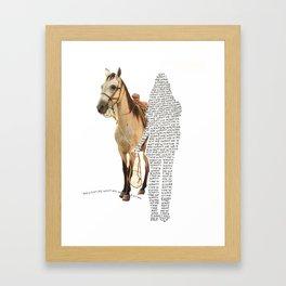 Want Me Framed Art Print