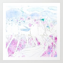Lavender | Granatovych Artwork | Oils on Water and Watercolors Art Print