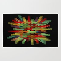 popsicle Area & Throw Rugs featuring Popsicle Sticks by David Lee