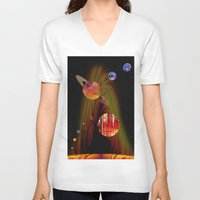 solar system V-neck T-shirts featuring solar system I by donphil