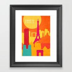 travel to Paris Framed Art Print