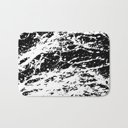 Black and White Paint Splatter Bath Mat