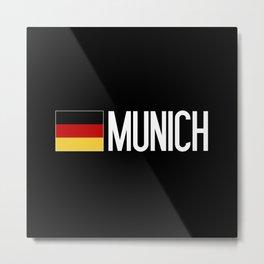 Germany: German Flag & Munich Metal Print