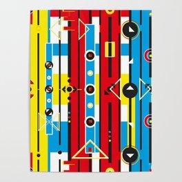 Graphic retro weave Poster