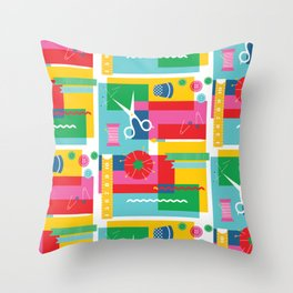 Craft Collage Throw Pillow