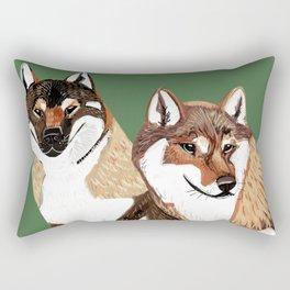 Shikoku Inu Rectangular Pillow