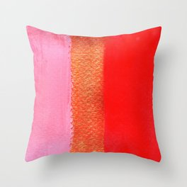 Tri Colore Throw Pillow