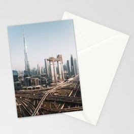 Dubai Skyline   Travel Photography   Stationery Cards