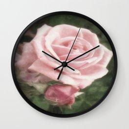Pink Roses in Anzures 2 Nostalgic Wall Clock