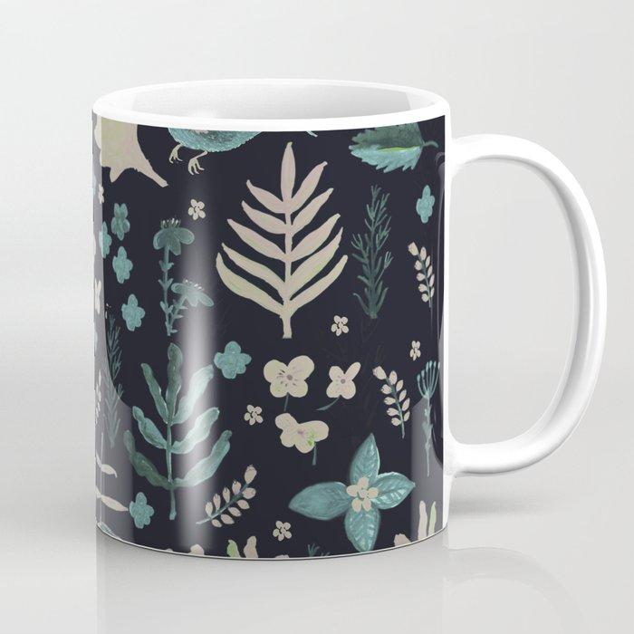 Night Nature Floral Pattern Coffee Mug