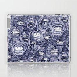 BITE ME roses and orchids INDIGO Laptop & iPad Skin