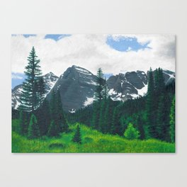 The Bells and the Trees. The Maroon Bells in Aspen, Colorado. Canvas Print