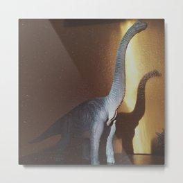Dino's Monstrous Shadow Metal Print