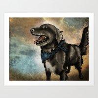 Lucky Pup Art Print