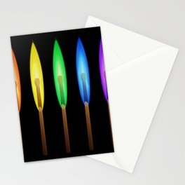 Rainbow Matches Stationery Cards