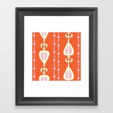 Ikat Heart Stripe Framed Art Print