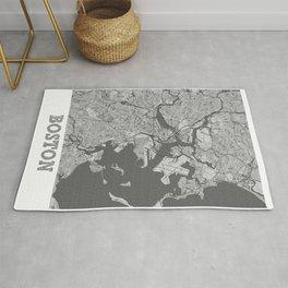 Boston Pencil City Map Rug