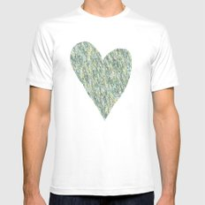 Teal Forest Mens Fitted Tee MEDIUM White