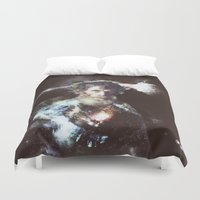 dark side of the moon Duvet Covers featuring dark side of the moon - old man by Ahmet Hacıoğlu