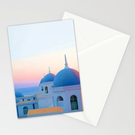 Vacations in Santorini Stationery Cards