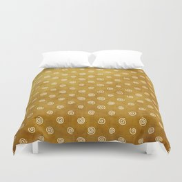 A Chérissent Holiday in Dazzling Gold Duvet Cover