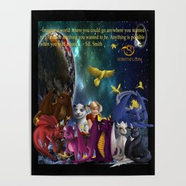 Dragonlings Space Party Poster