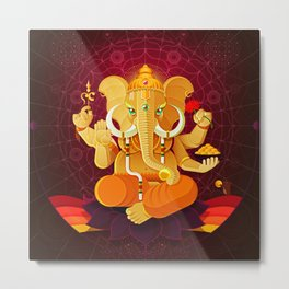 Ganesha | Animal Gods Metal Print