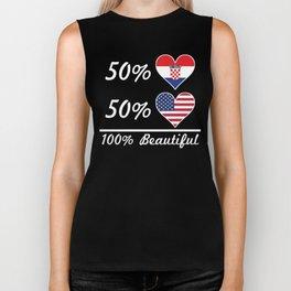 50% Croatian 50% American 100% Beautiful Biker Tank