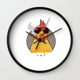 Funny Hen Chicken Gift Chicken Bad Mother Clucker Print Wall Clock