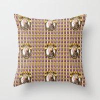 mozart Throw Pillows featuring Mozart Wallpaper by Glenn Designs