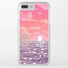 8-bit Bay Clear iPhone Case