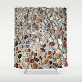 Pebble Rock Flooring II Shower Curtain