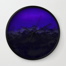 Cloudy forest Wall Clock