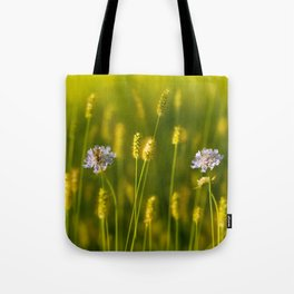 Flowery meadow and the bee Tote Bag