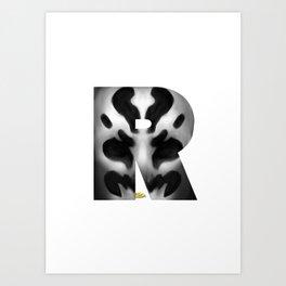 Geek letter R Art Print