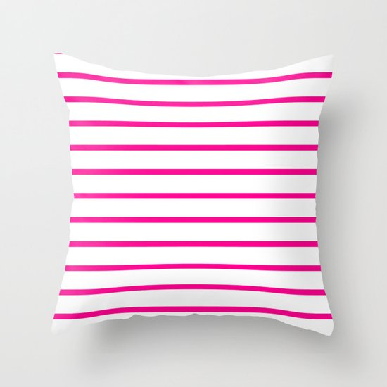 Horizontal Lines (Magenta/White) by 10813apparel