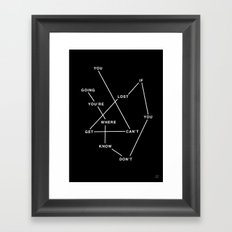 GETLOST Framed Art Print
