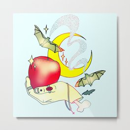 Apples & Bananas Metal Print