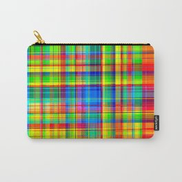 Colorful plaid pattern Carry-All Pouch