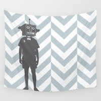 sci fi Wall Tapestries featuring Sci-Fi Geek by Jade Deluxe