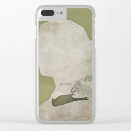 Anne Brontë Agnes Grey - Minimalist literary design Clear iPhone Case