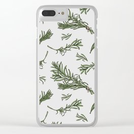 Rosemary rustic pattern Clear iPhone Case
