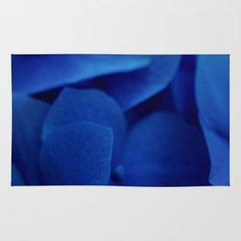 Bluest Blue Flower Rug
