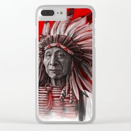 Red Cloud Clear iPhone Case