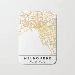 MELBOURNE AUSTRALIA CITY STREET MAP ART Bath Mat