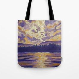 Okanagan Landscape in Purple and Hansa Tote Bag