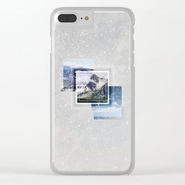 Inspiring mountain Clear iPhone Case