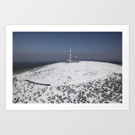 The Brockenbahn on the Brocken Art Print