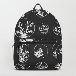 Black and White Coral Illustration Backpack