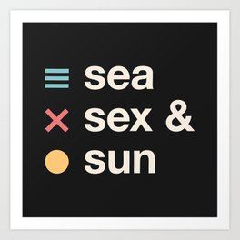 Sea sex & sun II Art Print